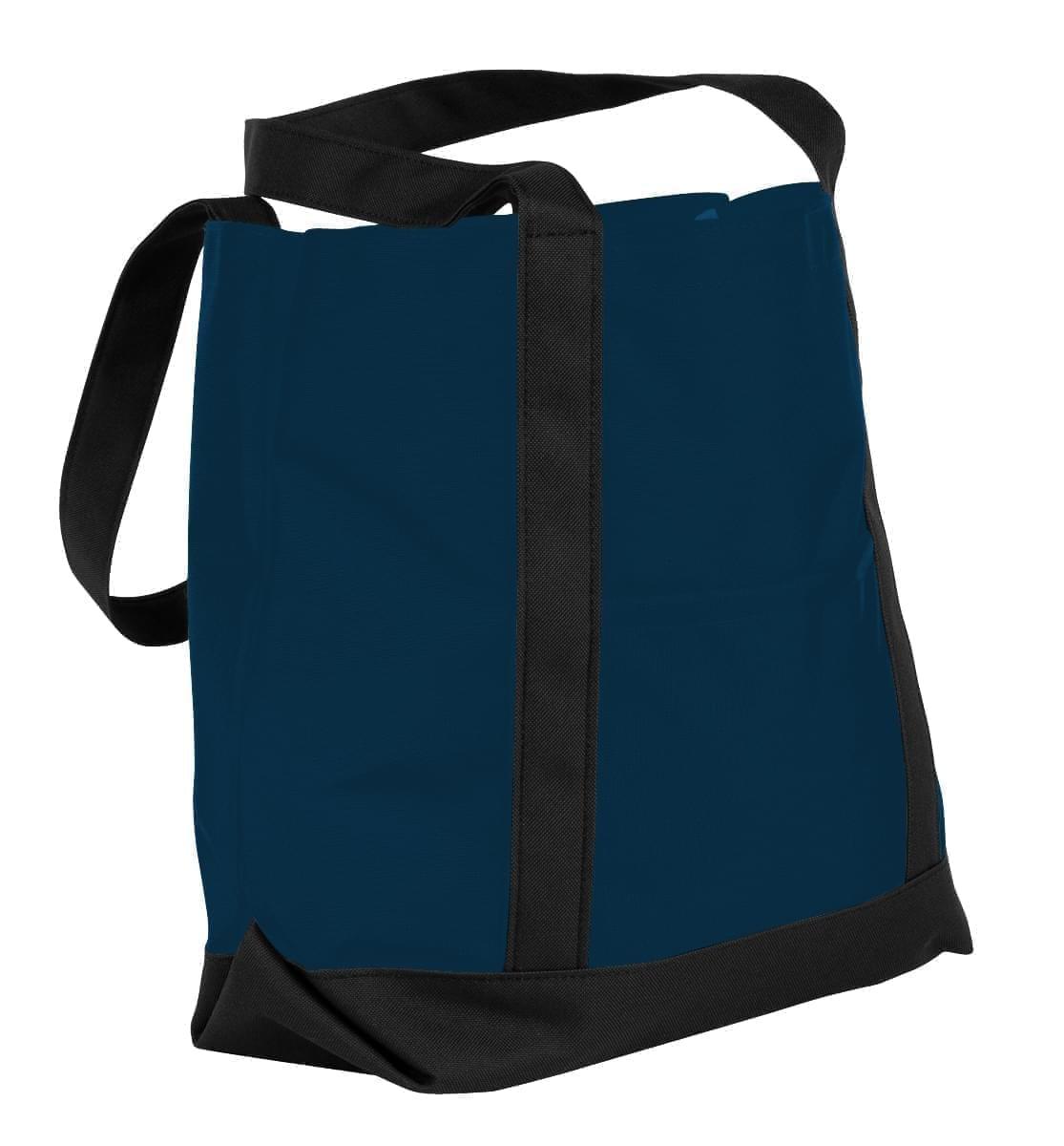 USA Made Nylon Poly Boat Tote Bags, Navy-Black, XAACL1UAWC