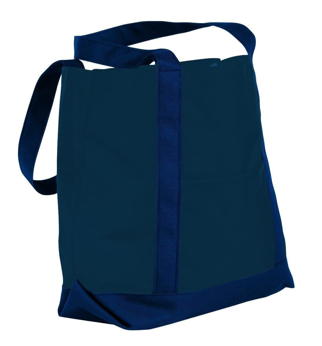 USA Made Nylon Poly Boat Tote Bags, Navy-Navy, XAACL1UAWI