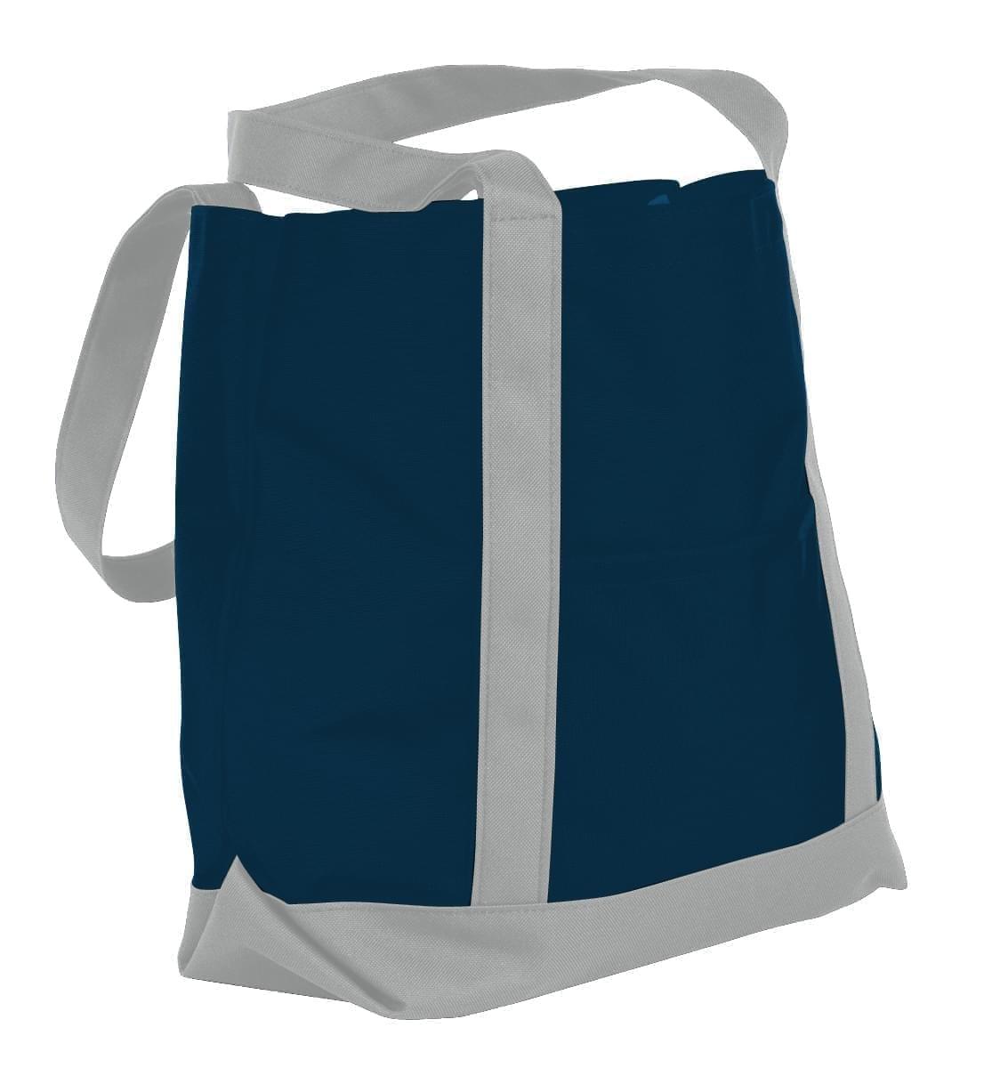 USA Made Nylon Poly Boat Tote Bags, Navy-Grey, XAACL1UAWN