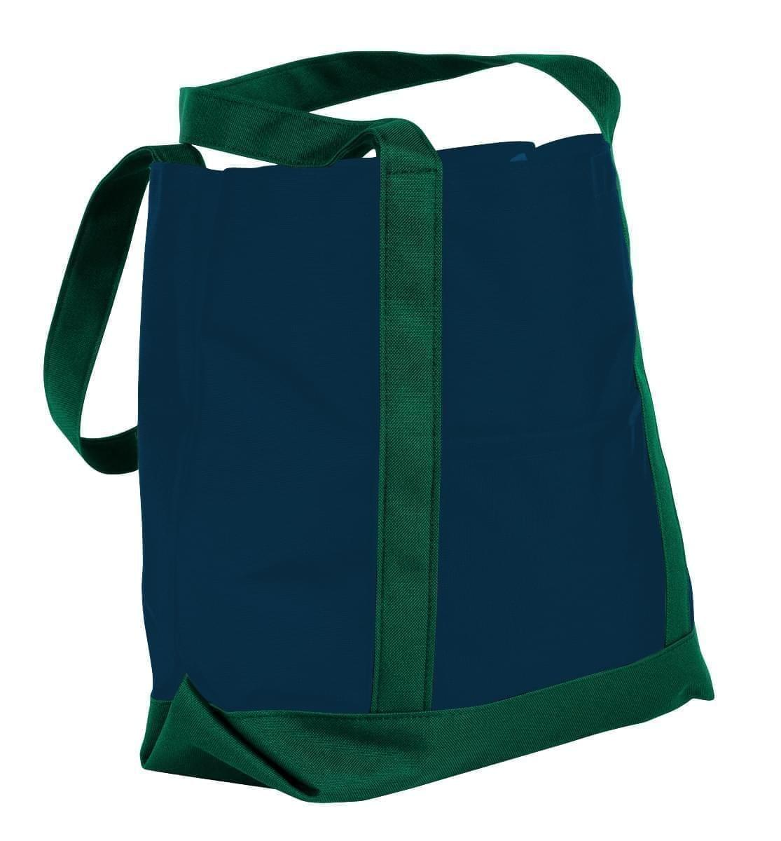 USA Made Nylon Poly Boat Tote Bags, Navy-Hunter Green, XAACL1UAWV