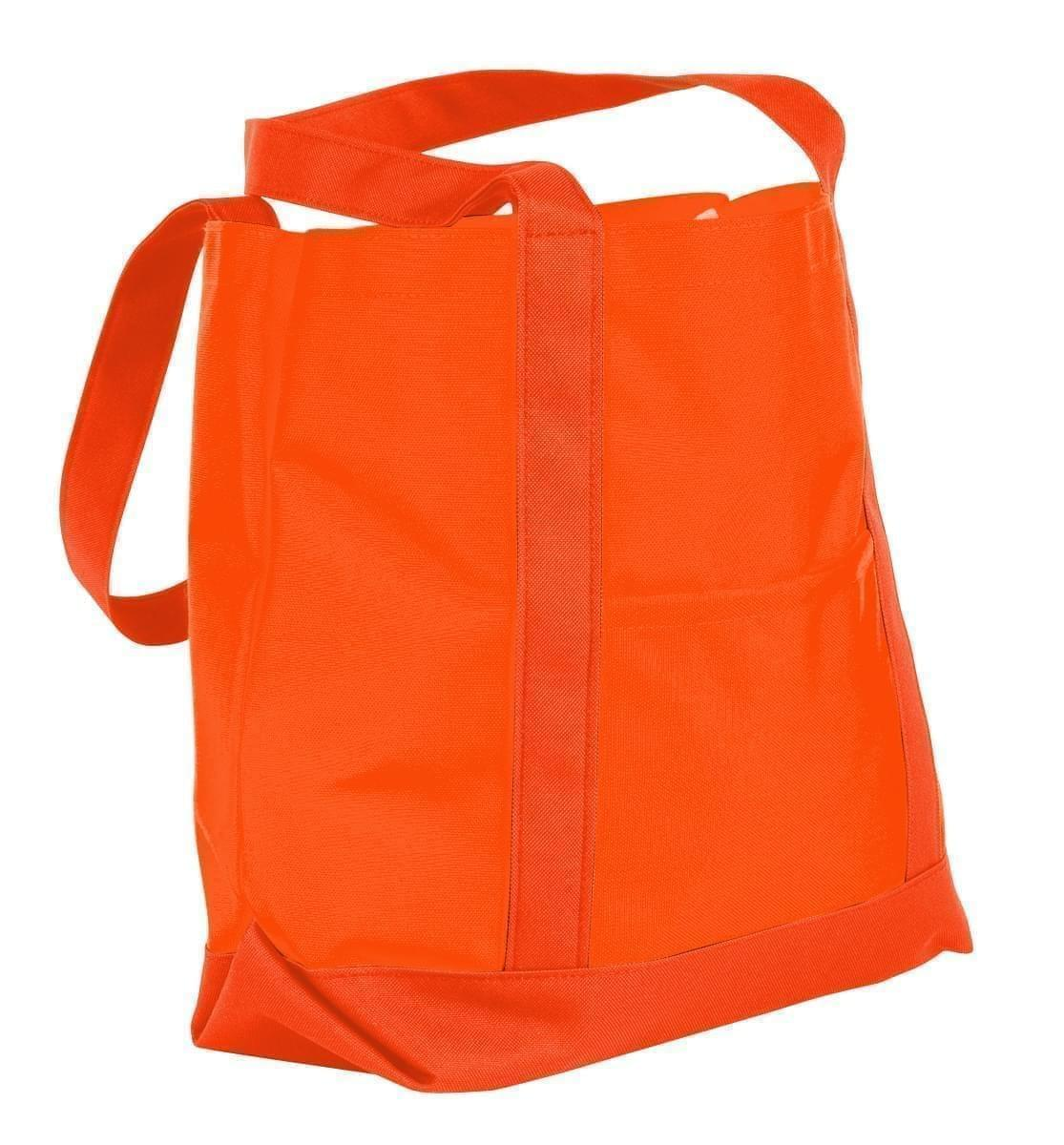 USA Made Nylon Poly Boat Tote Bags, Orange-Orange, XAACL1UAXJ