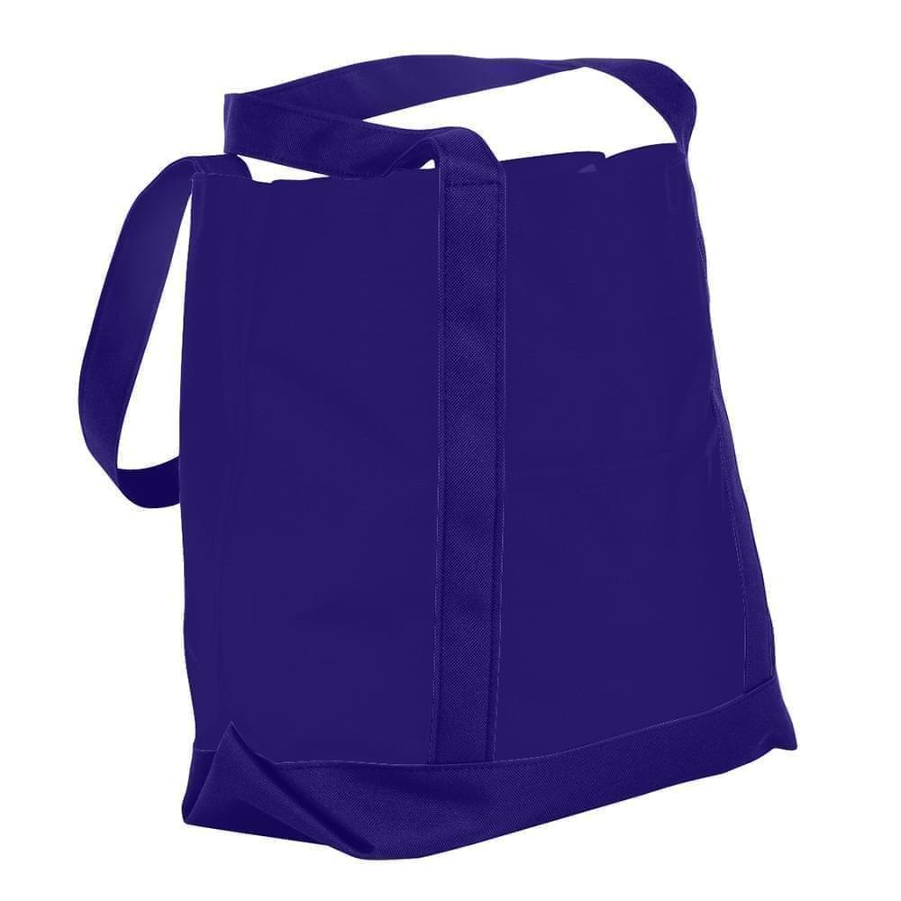 USA Made Nylon Poly Boat Tote Bags, Purple-Purple, XAACL1UAYK