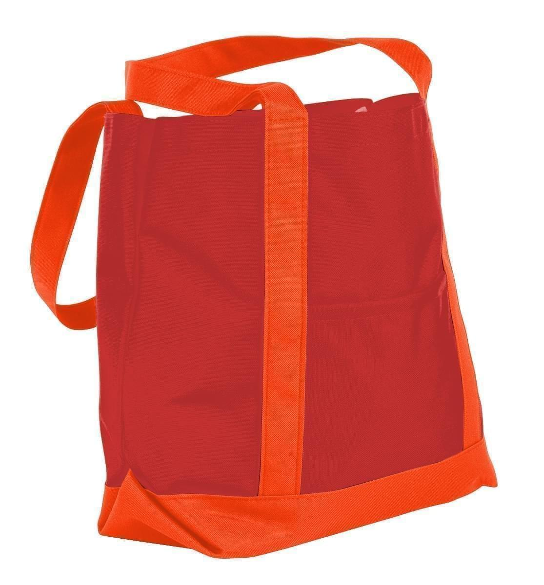 USA Made Nylon Poly Boat Tote Bags, Red-Orange, XAACL1UAZJ