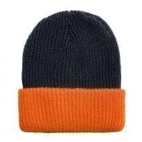 Contrast Cuff Knit Hat
