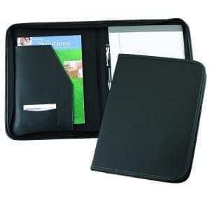 Leather Letter Zipper Folder