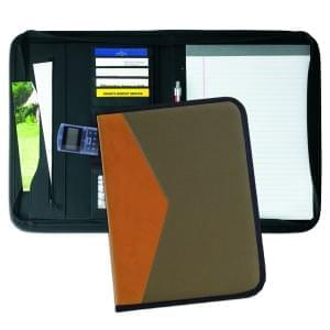 Tribeca Dual Tone Zipper Folder